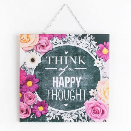 Graham & Brown Chalkboard Happy Thoughts Canvas