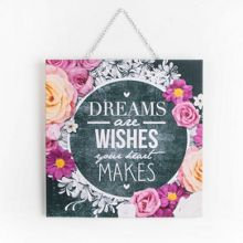Graham & Brown Chalkboard Dreams & Wishes anvas