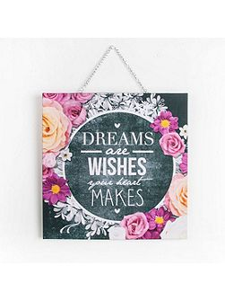 Chalkboard Dreams & Wishes anvas