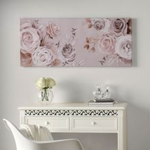 Mixed Media Rose Trail Printed Canvas