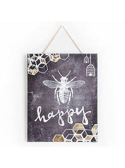 Bee Happy Printed Canvas