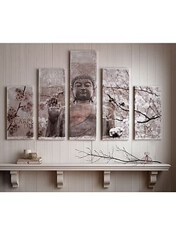 Harmony set of 5 Printed Canvas