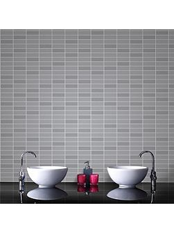 Grey Shimmer Rimini Tile Wallpaper