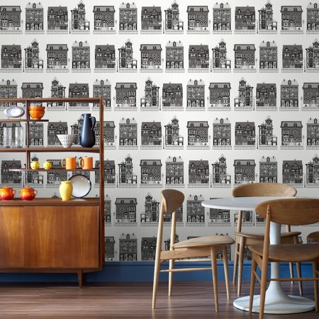Graham & Brown Black / White High Street Wallpaper