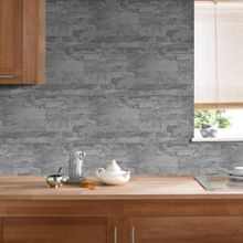 Graham & Brown Grey New Brick Wallpaper