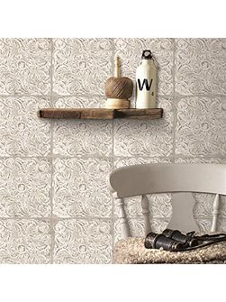 Ny Tile Natural Wallpaper