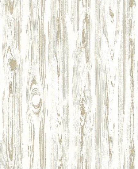 Graham & Brown Bark Wood Effect Gold Wallpaper