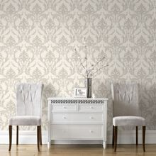 Graham & Brown Pearl / Taupe Oxford Wallpaper