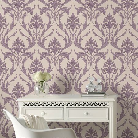 Graham & Brown Purple Oxford Wallpaper