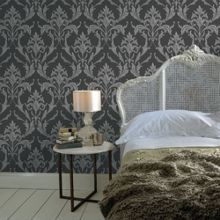 Graham & Brown Black / Grey Oxford Wallpaper