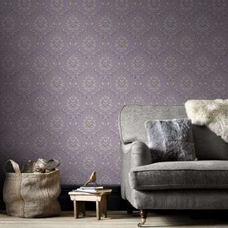 Graham & Brown Cream Jacquard Wallpaper
