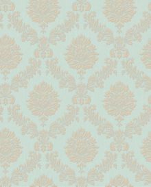 Teal Jacquard Wallpaper