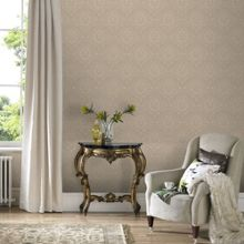 Beige Jacquard Wallpaper