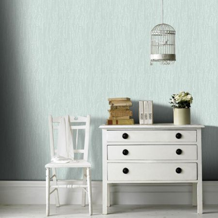 Graham & Brown Teal Crushed Silk Wallpaper