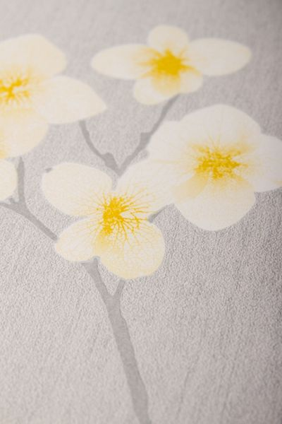 Graham & Brown Grey / Ochre Radiance Wallpaper