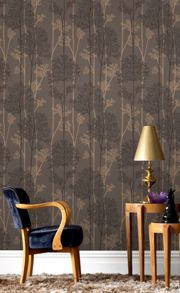 Graham & Brown Chocolate / Bronze Eternal Wallpaper