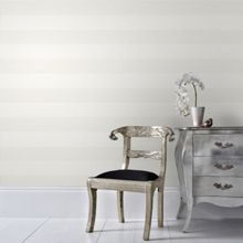 Graham & Brown Cream Calico Stripe Wallpaper