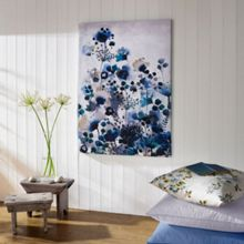 Graham & Brown Blue Moody Printed Canvas