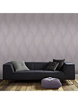 Mulberry Purple Quill Wallpaper