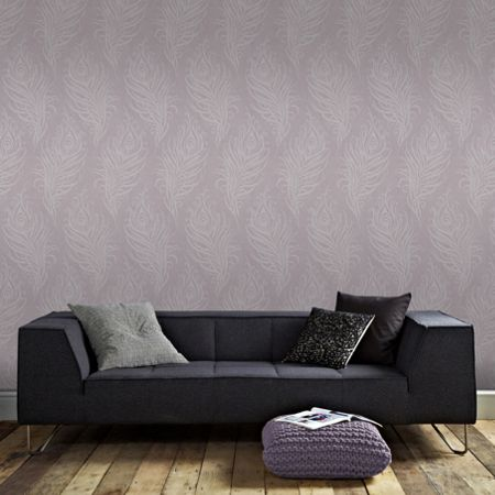 Graham & Brown Mulberry Purple Quill Wallpaper