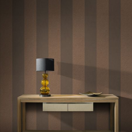 Graham & Brown Copper Artisan Stripe Wallpaper