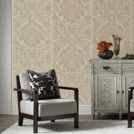 Graham & Brown Oyster Gloriana Wallpaper