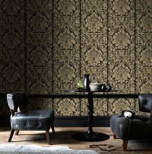 Graham & Brown Gold Gloriana Wallpaper