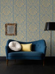 Graham & Brown Blue Gloriana Wallpaper