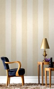 Graham & Brown Oyster Cream Artisan Stripe Wallpaper
