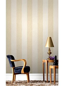 Oyster Cream Artisan Stripe Wallpaper