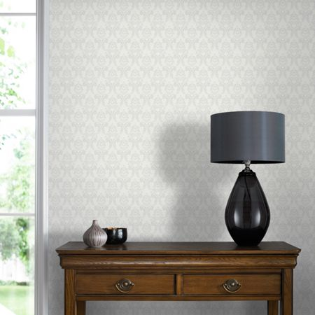 Graham & Brown Grey Renaissance Wallpaper