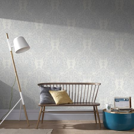 Graham & Brown Grey Melody Wallpaper