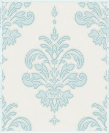 Graham & Brown Duck Egg / White Olana Wallpaper