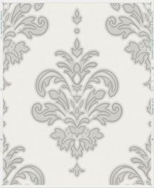 Graham & Brown Grey / White Olana Wallpaper