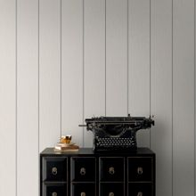 Grey / Silver Stria Stripe Wallpaper