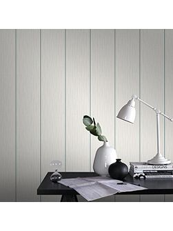 Green/ White Stria Stripe Wallpaper