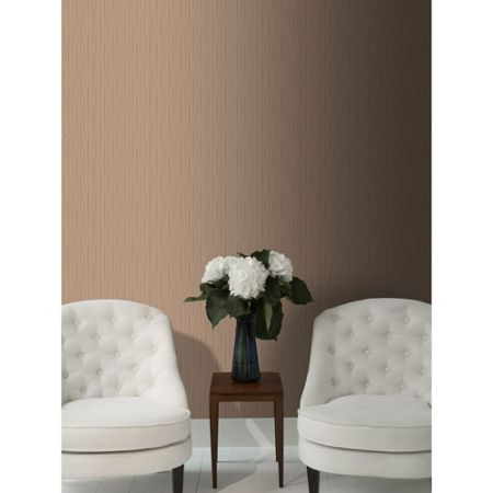 Graham & Brown Copper Stria Texture Wallpaper