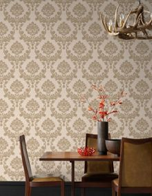 Graham & Brown Gold / Natural Dynasty Wallpaper