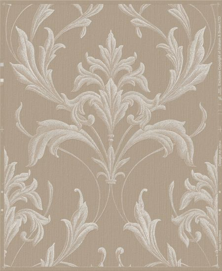 Graham & Brown Gold / Natural Oxford Wallpaper