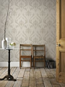 Graham & Brown Cream Oxford Wallpaper