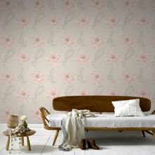 Graham & Brown Peach Sofia Wallpaper
