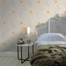 Graham & Brown Gold / Natural Sofia Wallpaper