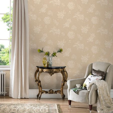 Graham & Brown Cream Vintage Boutique Floral Wallpaper