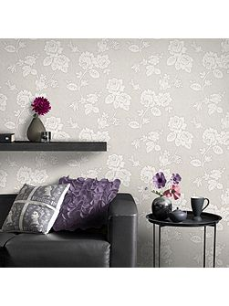 Superfresco Easy New England Rose Taupe Wallpaper