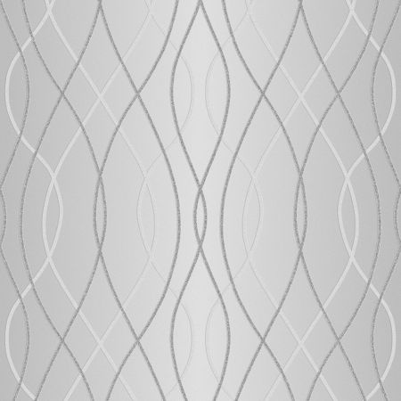 Graham & Brown Superfresco Easy Manhattan Geo Silver Wallpaper
