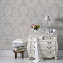 Graham & Brown Superfresco Easy Venetian Grey/White Wallpaper