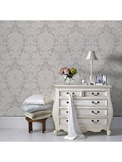 Superfresco Easy Venetian Grey/White Wallpaper
