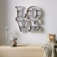 Graham & Brown Lit Love Shaped Art