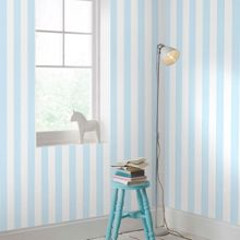 Graham & Brown Pastel Blue & White Striped Wallpaper