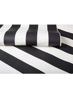 Black & White Monochrome Striped Wallpaper